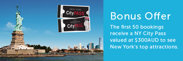 First 50 bookings receive a NY City Pass