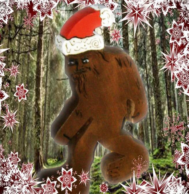 Holiday custom Santa Sasquatch