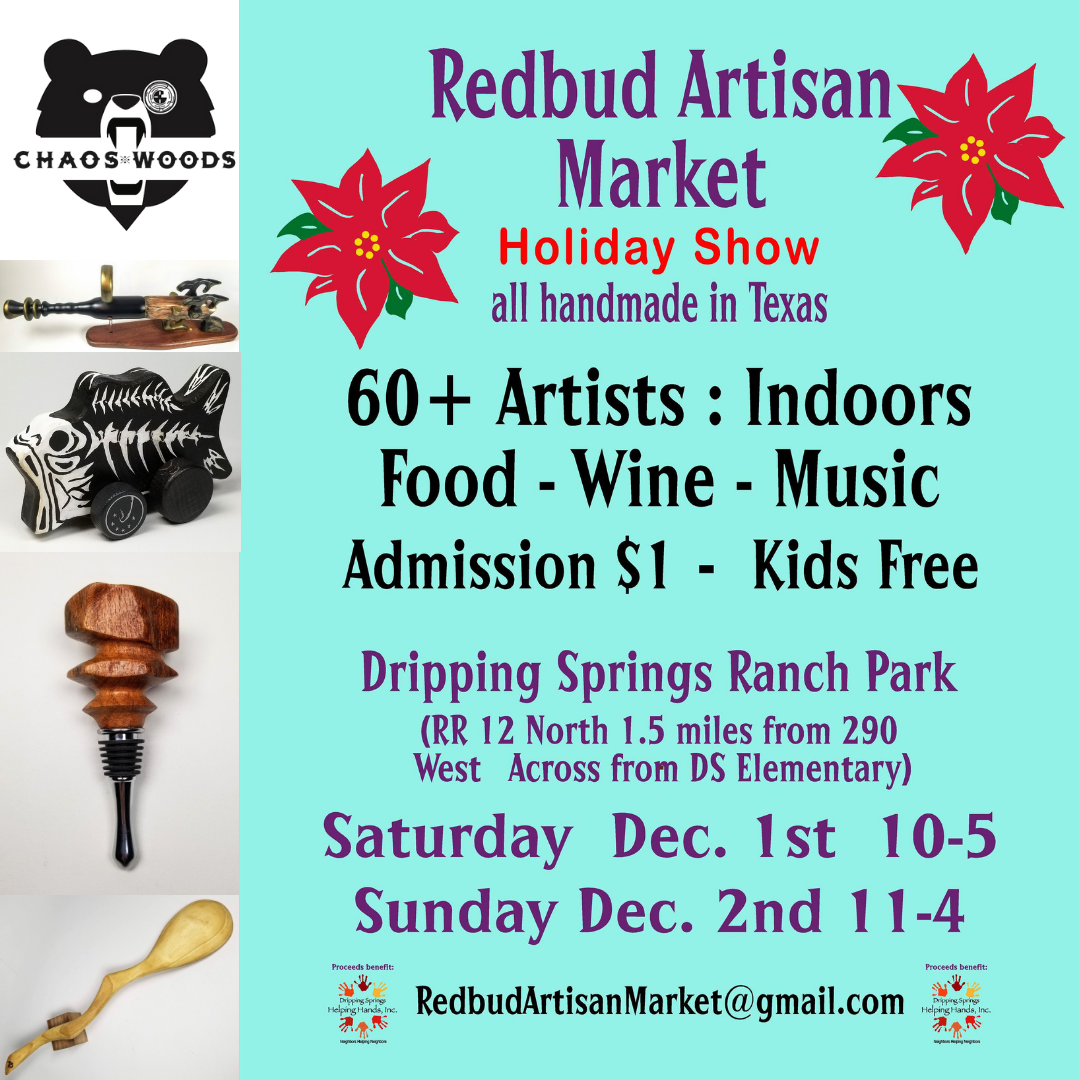 60 plus artists. One dollar admission goes to Helping Hands food bank.