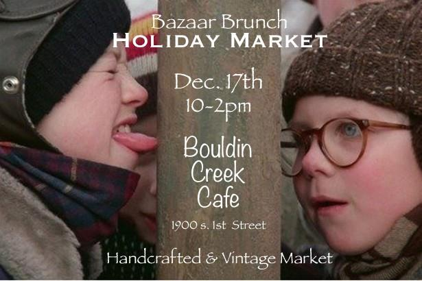 Enjoy a lovely brunch and maybe even sip on a mimosa, while shopping small and local for all of your holiday needs.