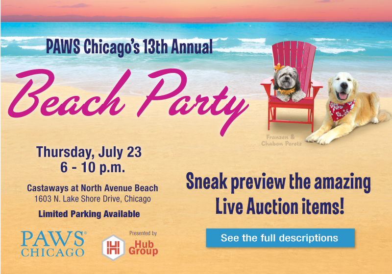 to the 13th Annual Beach Party presented by Hub Group! Join us on Thursday, July 23, 2015 at 6 PM at Castaways at North Avenue Beach.