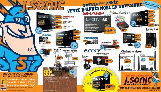 J. Sonic vente d'entrepôt                                           J. Sonic warehouse sale