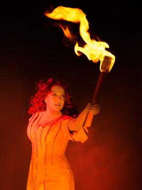 "Deborah Voigt as Brunnhilde in the final installment of Der Ring des Nibelungen, ""Gotterdammerung,"" on February 11."