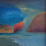 """Virga,"" oil, by Jim McCarten."