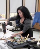 Manuela Kalestiantz will teach one of two workshops on the encaustic medium on August 10.