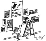 Jimmy Frankfort penned this cartoon for the annual Pushpin Show he founded.