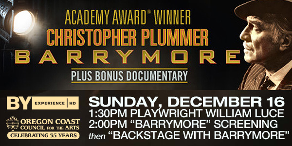 "Christopher Plummer portrays Sir John Barrymore in ""Barrymore,"" set for Dec. 16 at the Newport Performing Arts Center."