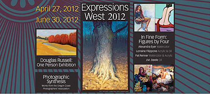 Expressions West, a juried exhibit, shows through June 30 at the Coos Art Museum.