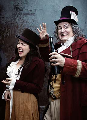 """Anna Netrebko (left) and Matthew Polenzani star in Donizetti's """"L'Elisir d'Amore,"""" which plays at 10 a.m. Saturday, Oct. 13 at the Newport Performing Arts Center."""