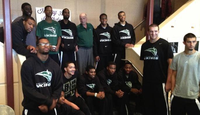 Opera Benefactors Bill & JoAnn Barton recently hosted the PSU basketball team.