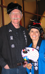 Ron and Sandi Williams embraced the oriental theme of Celebrity Waiter 2012.
