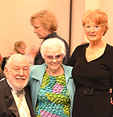 2012 Community Legends Burt and Bobbi Lippman posed with Alice Silverman (center).