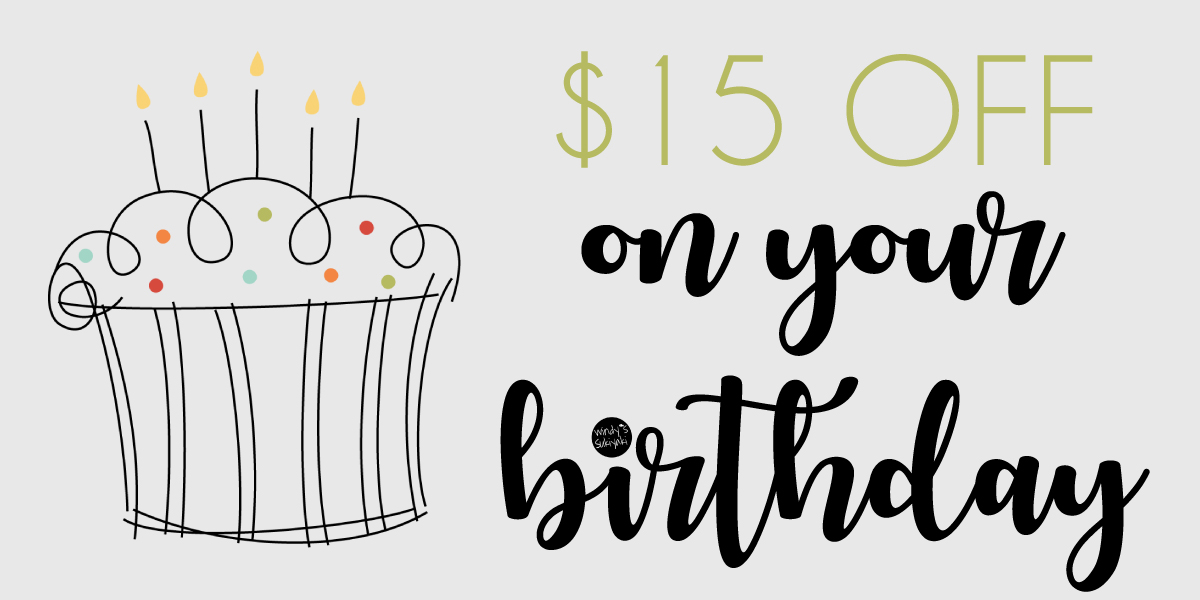 $15 off on your Birthday