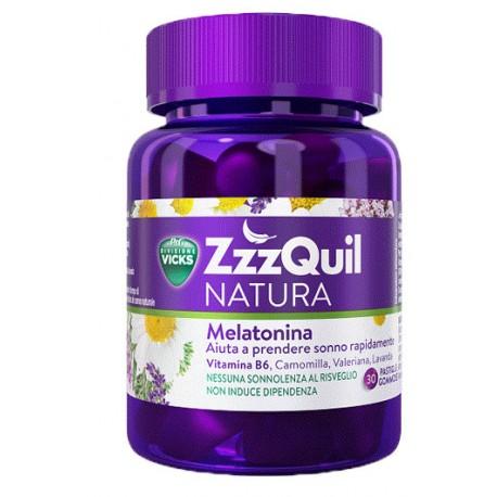 Vicks zzzquil natura 30 pastiglie integratore alimentare per dormire