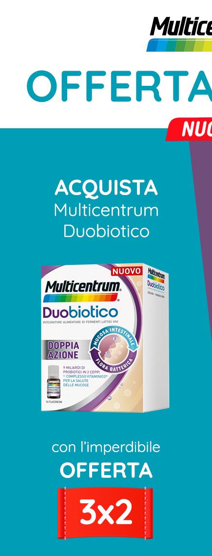 OFFERTA LANCIO! Acquista Multicentrum Duobiotico con l'imperdibile OFFERTA 3X2