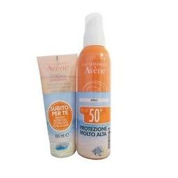 Avene solare Kit Spray 50+ 299ml + Trixera detergente 100ml