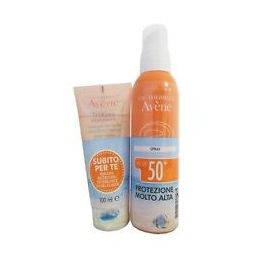 Avene solare Kit Spray 50+ 299ml + Trixera detergente 100ml
