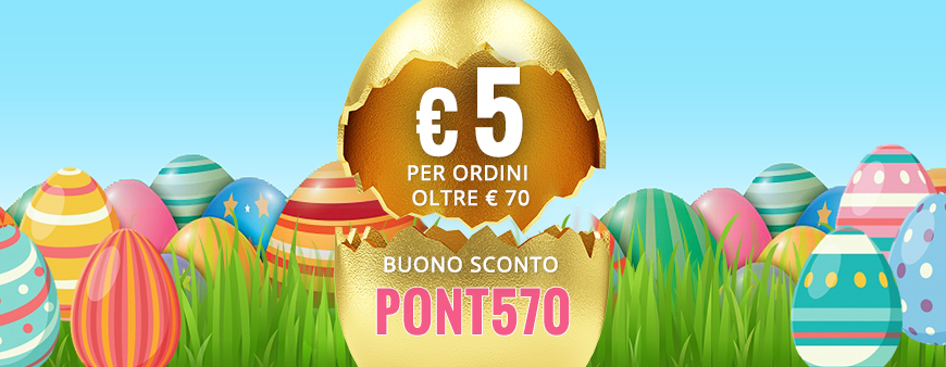 € 5 per ordini oltre € 70 con il buono sconto PONT570