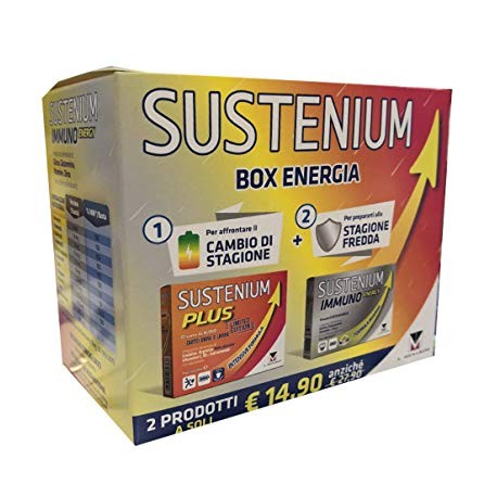 Sustenium box energia immuno + Plus limited edition 26 bustine