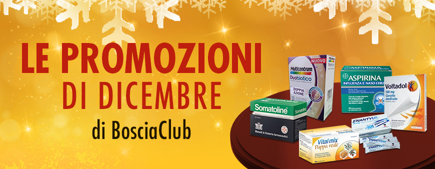 Le promozioni di dicembre di Bosciaclub