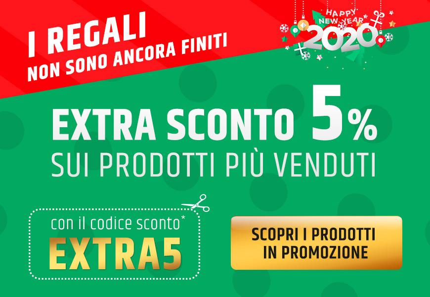 I regali non sono ancora finiti extra sconto 5% sui prodotti più venduti con il codice sconto EXTRA5 scopri i prodotti in promozione