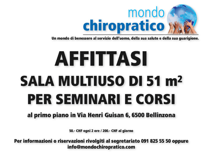 Flyer Affitto sala