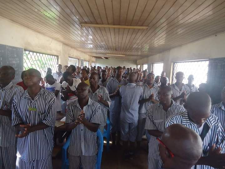 Prison Ministry worship service every Tuesday
