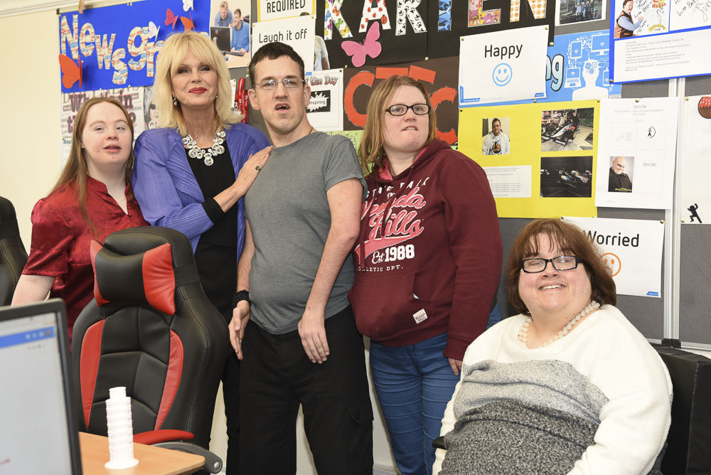 Joanna Lumley at the newly-refurbished building of The Grange Centre for People With Disabilities