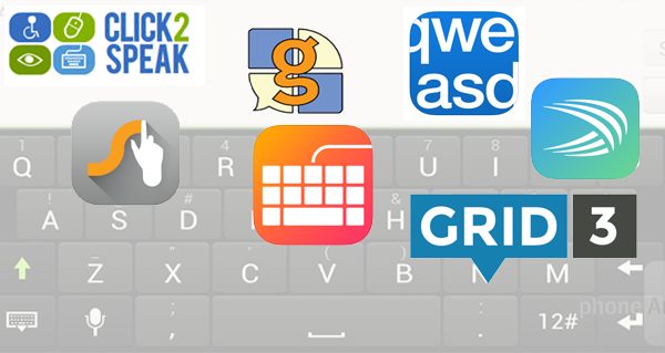 On-screen keyboard icons