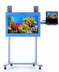 Visilift interactive, big touch screen computer – affectionately known as 'BOB' by the people we support.