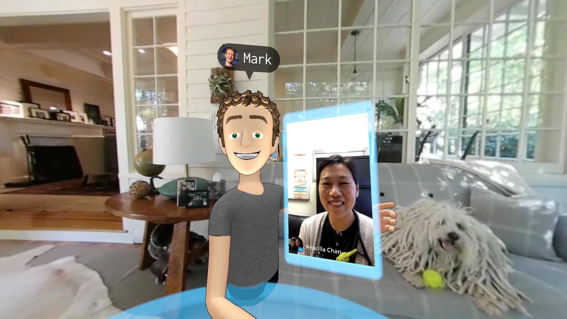 A selfie Mark Zuckerberg took while in VR