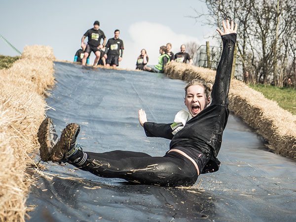 Take on the 60ft water slide at the Battle of Lansdown!
