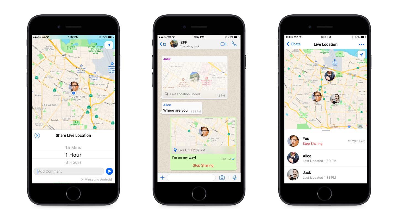 Compartir ubicación en Whatsapp