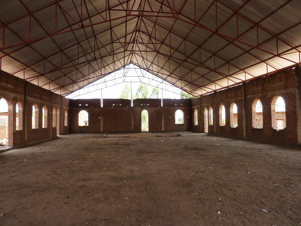 Burundi church witha  roof