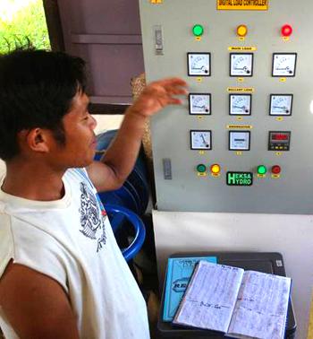 Control room for Sitio Lobo's micro hydro generator
