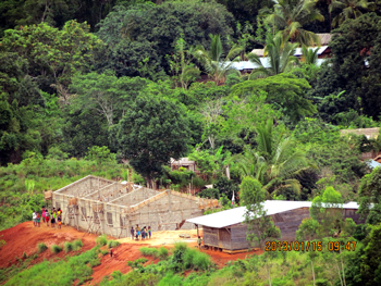 School under construction in Antsahaberaoka, Madagascar