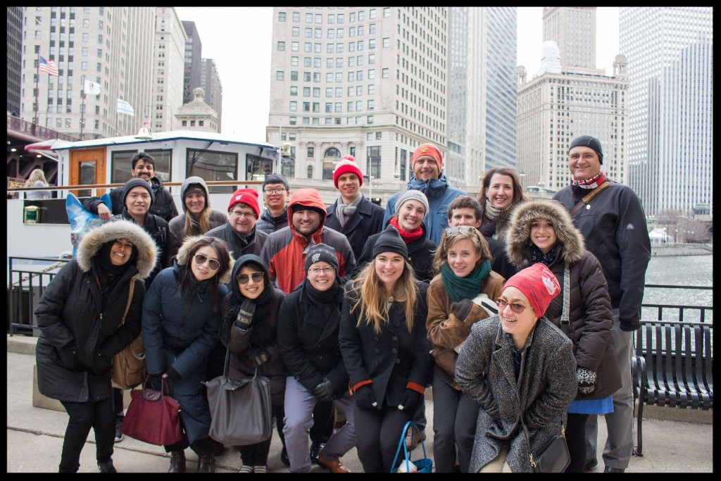 2018 EAP Chicago Trip- group photo of students