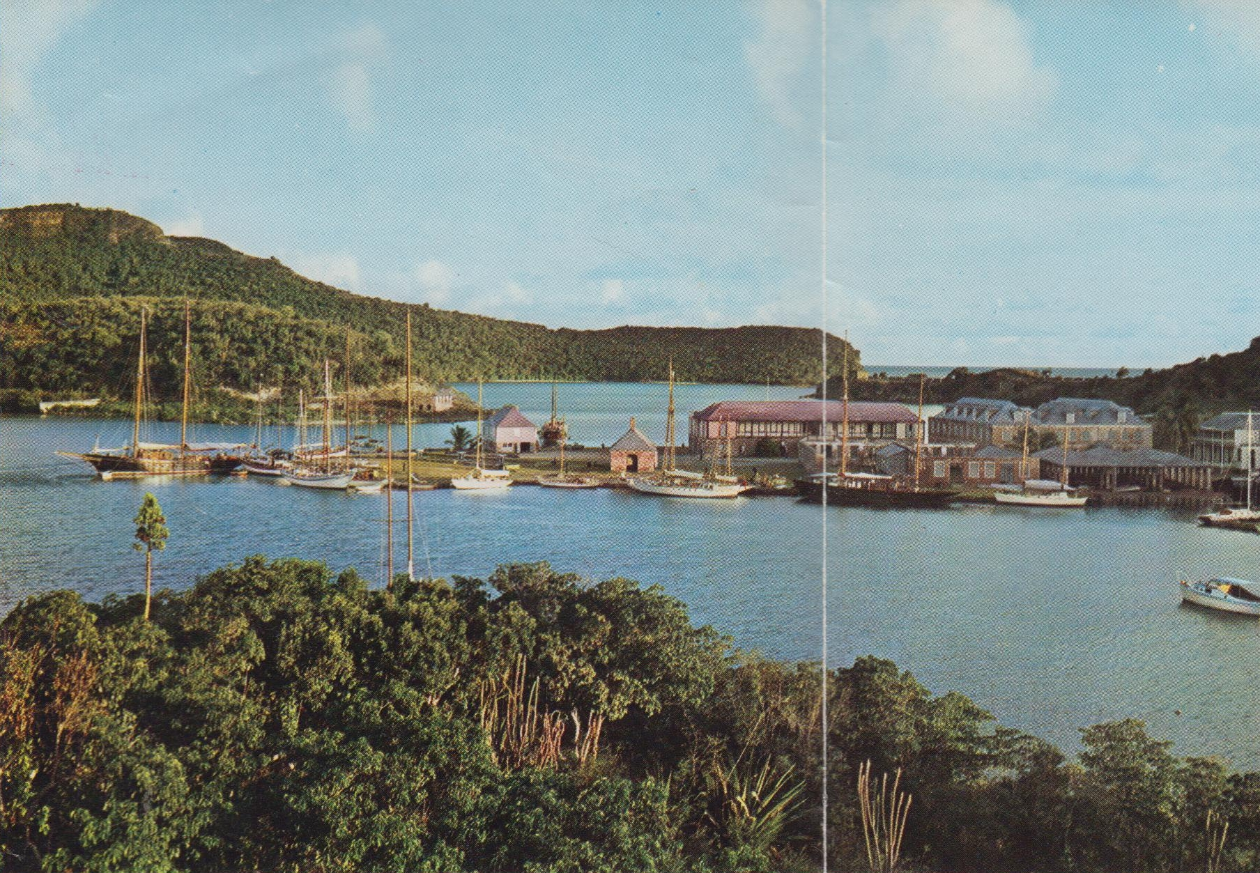 Nelson's Dockyard, English Harbour, Antigua, headquarters for V.E.B. Nicholson & Sons, aka Nicholson Yacht Charters, founded by Vernon E.B. Nicholson in 1949