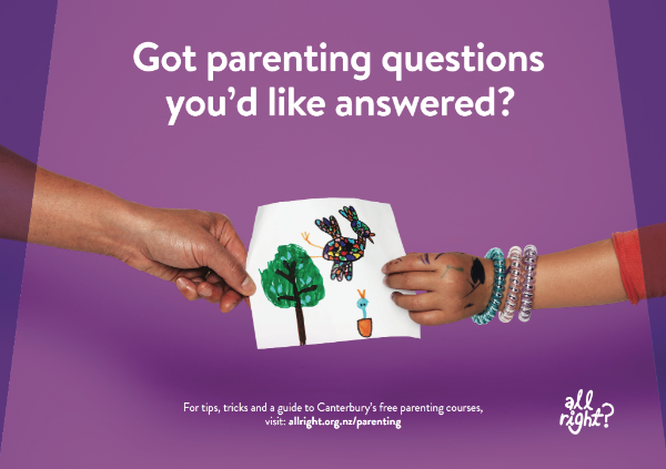 Got a parenting question you want answered? Visit www.allright.org.nz/parents.