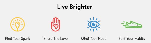 Live Brighter banner.