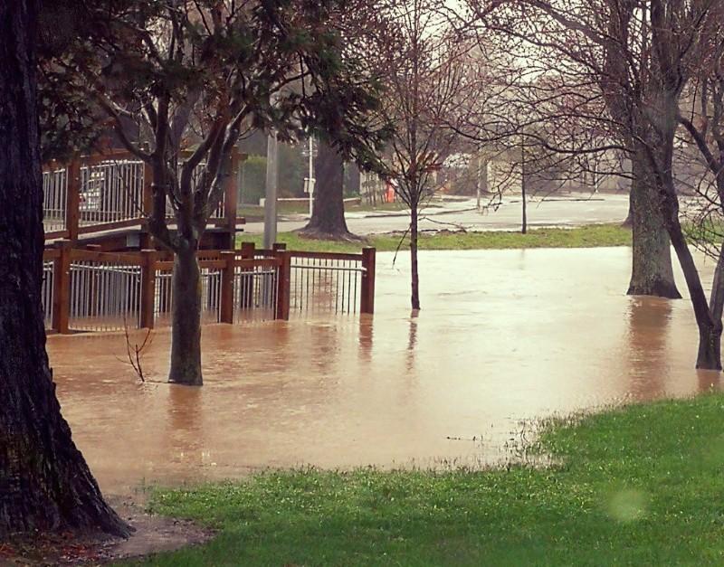 Flooding in Christchurch. Photo by Sandy Brinsdon.