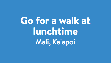 Go for a walk at lunchtime - Mali.