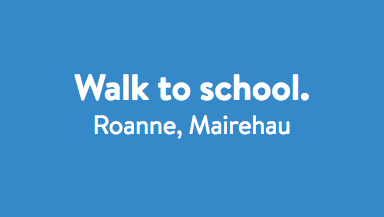 Walk to school - Roanne.
