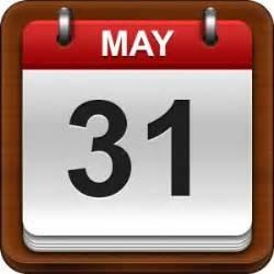 31 May