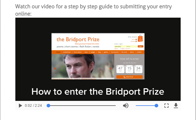 Enter Online Video