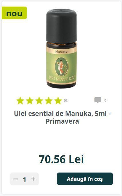 Ulei esential de Manuka, 5ml - Primavera