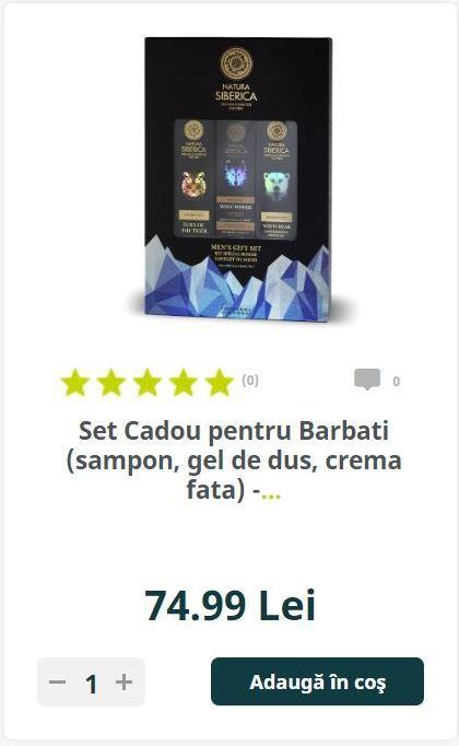 Set Cadou pentru Barbati (sampon, gel de dus, crema fata) -...