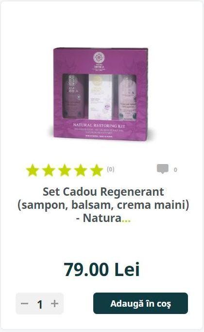 Set Cadou Regenerant (sampon, balsam, crema maini) - Natura..