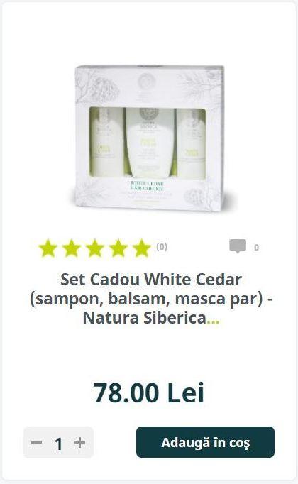 Set Cadou White Cedar (sampon, balsam, masca par) - Natura Siberica...