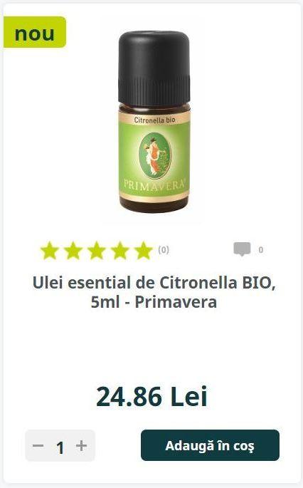 Ulei esential de Citronella BIO, 5ml - Primavera